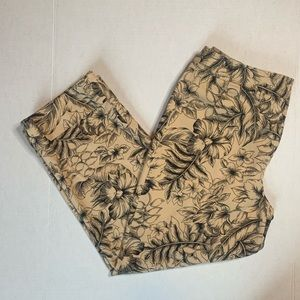 Rafaell Floral Ivy Cropped Pant